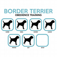 T-Shirt: BORDER TERRIER Obedience Training - All Dog Breeds Available LazyCarrot