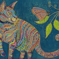 The Cat and the Butterfly Giclee Print