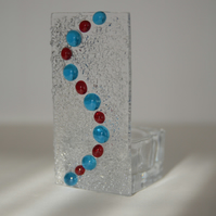 Fused glass tealight holder