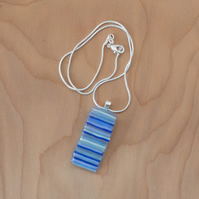 Blue stripes glass pendant