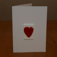 Glass heart keepsake Valentine's card