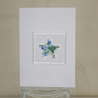 Fused Glass Star on Blank Greetings Card