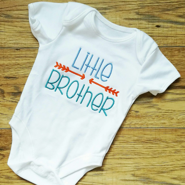 Little brother, brother vest, baby vest, baby boy, siblings, brother
