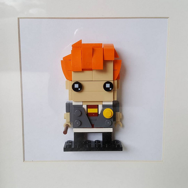 Framed Harry Potter characters made from Lego
