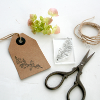 Flower Sprig - Flower Sprig Clear Rubber Stamp - Flower Sprig Stamp