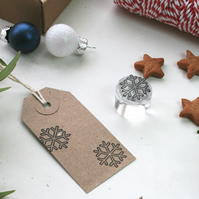 Snowflake Clear Rubber Stamp - Snowflake Stamp - Snowflake - Christmas Stamp