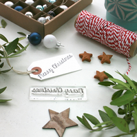 Christmas Stamp - Merry Christmas Stamp - Christmas Card Making Supplies