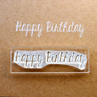 Happy Birthday Stamp - Happy Birthday Clear Stamp - Birthday Stamp