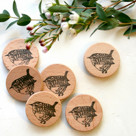 Wren Clear Rubber Stamp - Wren Rubber Stamp - Bird Stamp - Clear Stamp