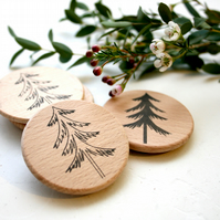 Woodland Tree Outline Stamp SMALL - Christmas Tree Stamp - Pine Tree Stamp