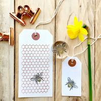 Honeycomb Hexagon Geometric Clear Rubber Stamp - Small Honeycomb Stamp