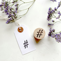 Rubber Stamp Hashtag Icon Social Media - Social Media Stamp - Hashtag Stamp