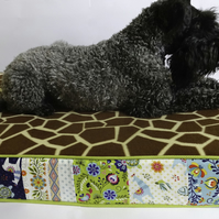 COVER ONLY Fleece and Cotton Pet Bed or Floor Cushion Cover LARGE