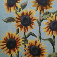 Sunflowers Standing Tall acrylic painting framed original