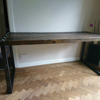 Industrial Reclaimed Steel Frame Dining Table