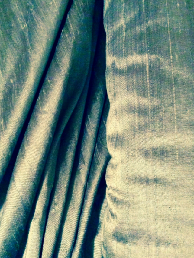 Sage Green Silk Fabric by the metre