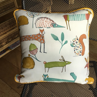 Woodland animal cushion