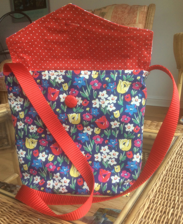 Blue Floral Bag Made From Cath Kidston Fabric. - Folksy