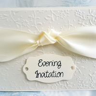 Gorgeous Cream Hand Crafted Evening Wedding Invitation. Pack of 10. FREE P&P.