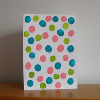 Polkadots Patterned Greetings Card SPRING COLLECTION