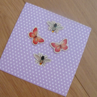 Pretty Fairy Polkadot Greetings Card