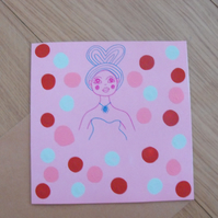 Colourful Polkadot Patterned Greetings Card