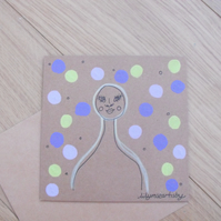 Natural Colourful Patterned Polkadot Greetings Card