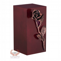 Unique Artistic Cremation Urn Rose- Funeral Urn for Adult Ashes Memorial Art 16C