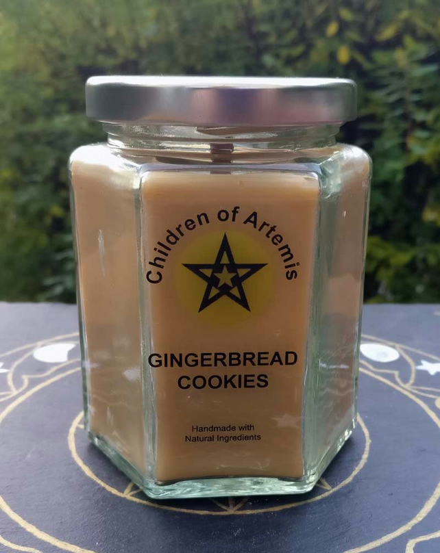 Gingerbread Cookies Jar with Woodwick Soy Candle