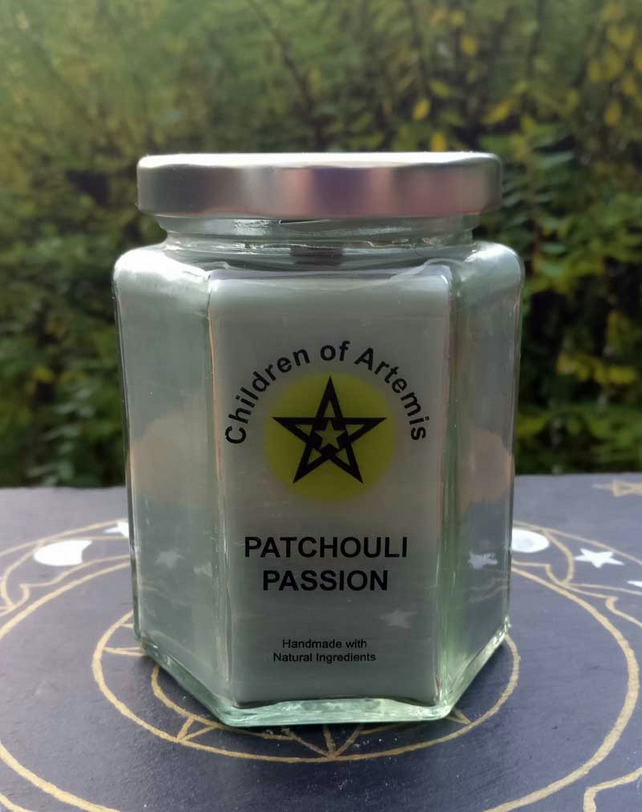 Patchouli Passion Jar with Woodwick Soy Candle
