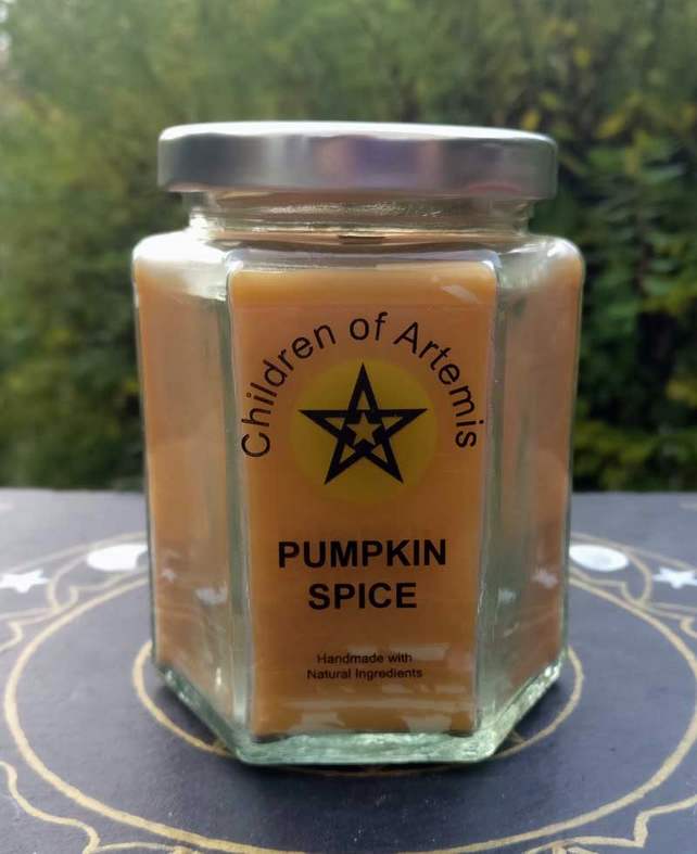 Pumpkin Spice Jar with Woodwick Soy Candle