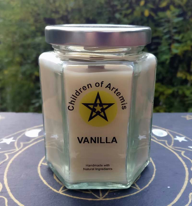 Vanilla Jar with Woodwick Soy Candle