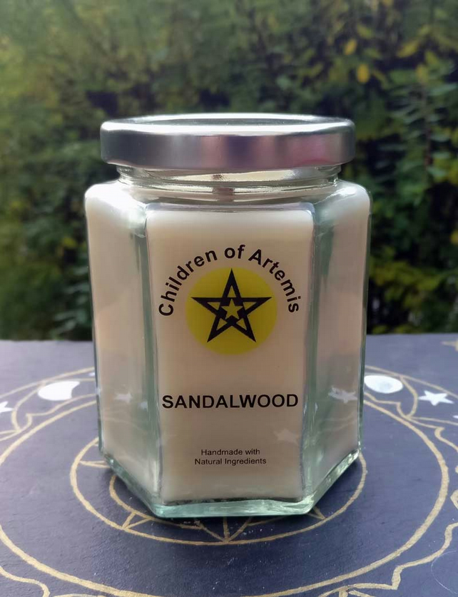 Sandalwood Jar with Woodwick Soy Candle