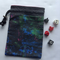 Drawstring dice bag