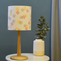 Squares Pink Drum Lampshade - handmade lampshade - home decor