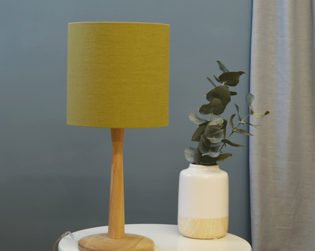 Olive Drum Lampshade - handmade lampshade - home decor