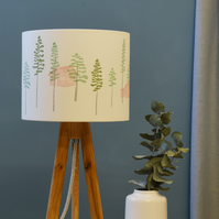 Hidden Cabin Drum Lampshade - handmade lampshade - home decor