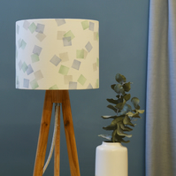 Squares Green Drum Lampshade- handmade lampshade - home decor