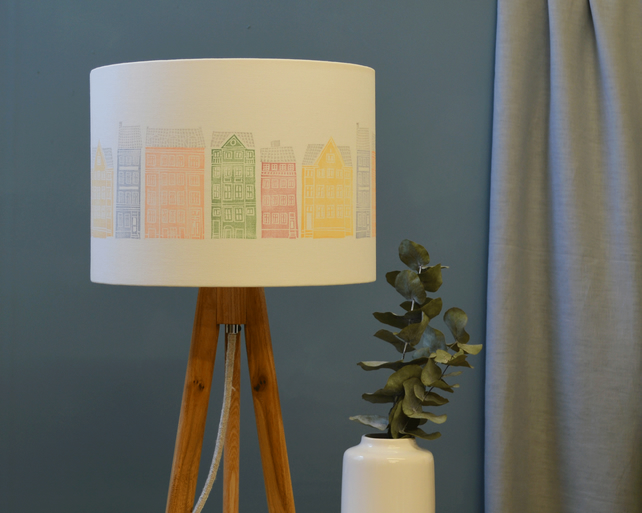 Copenhagen Drum Lampshade - handmade lampshade - home decor - fabric shade