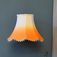 Orange Ombre Traditional Lampshade - handmade lampshade - home decor