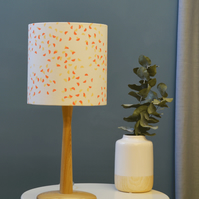 Segments Orange Drum Lampshade - handmade lampshade - home decor