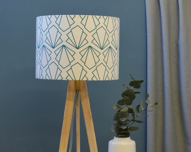 Sunbeam Turquoise Lampshade - handmade lampshade - home decor