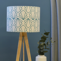Sunbeam Turquoise Lampshade 40cm D  - handmade lampshade - home decor