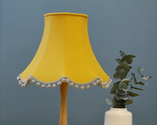 Mustard Traditional Lampshade - handmade lampshade - home decor