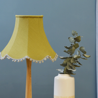 Olive Traditional Lampshade - handmade lampshade - home decor - fabric shade