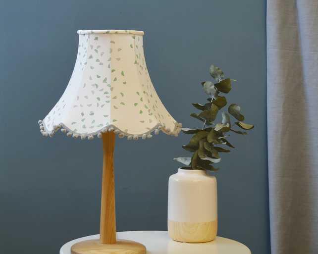 Segments Green Traditional Lampshade - handmade lampshade - home decor