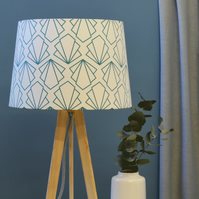 Sunbeam Tapered Lampshade - Geometric Lampshade - Turquoise Lampshade