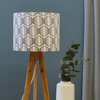 Ellipse Navy Lampshade - Geometric lampshade - Drum Lampshade