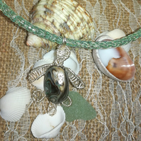 Necklace baby turtle