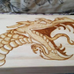 Wood stash box, pyrographyart Dragon, wood burnt box, tobacco box
